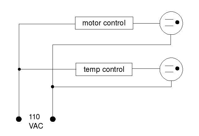 Controller for hot air popper